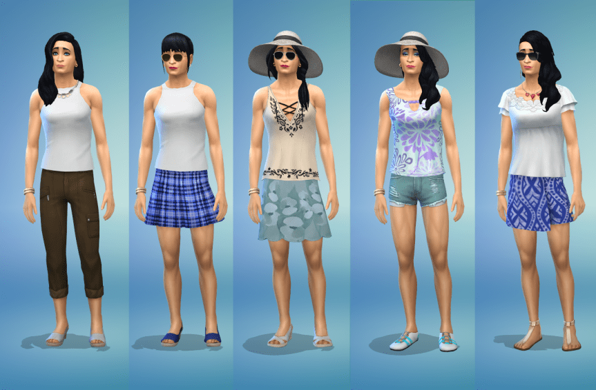 Sims 4 hot weather female outfits