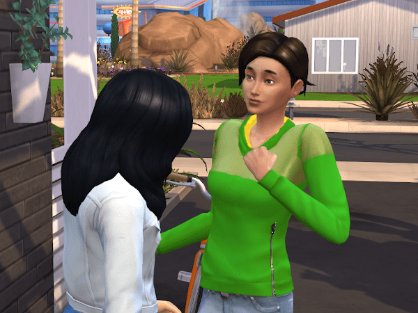 Two sims in love