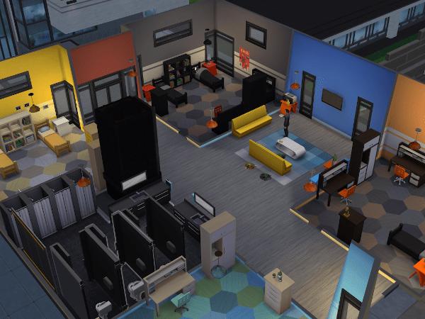 Sim in an empty dorm