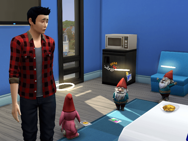 Satisfied Sims 4 gnomes