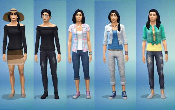 Sims 4 everyday outfits for adult female Sims