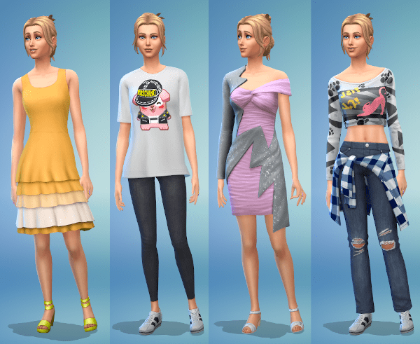 Sims 4 party fashion for a young adult female Sim