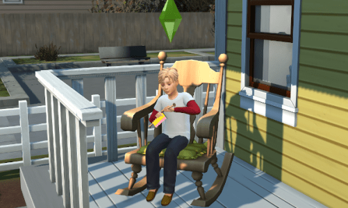 Sim child knitting