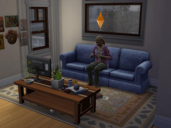 Sim knitting in the dark