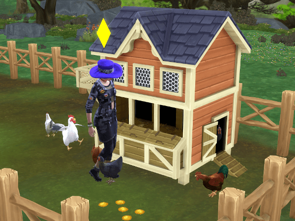 Sims 4 Country Living chicken coop