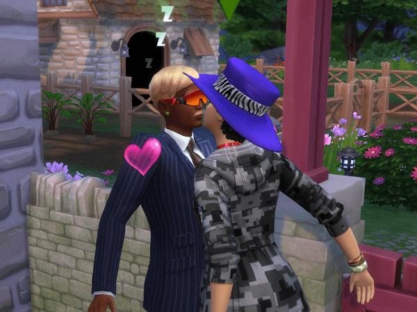 Sims 4 first kiss