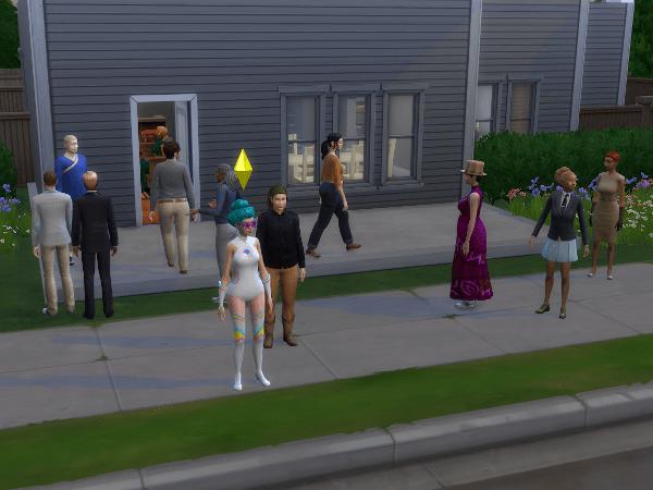 Sims 4 wedding at random person's house