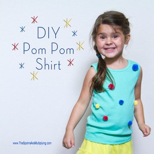 diy pom pom shirt