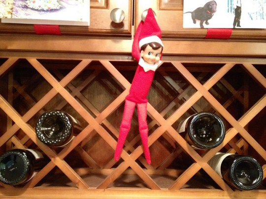 Georgie, our Elf on the Shelf