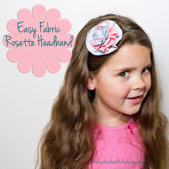 Easy Fabric Rosette Headband
