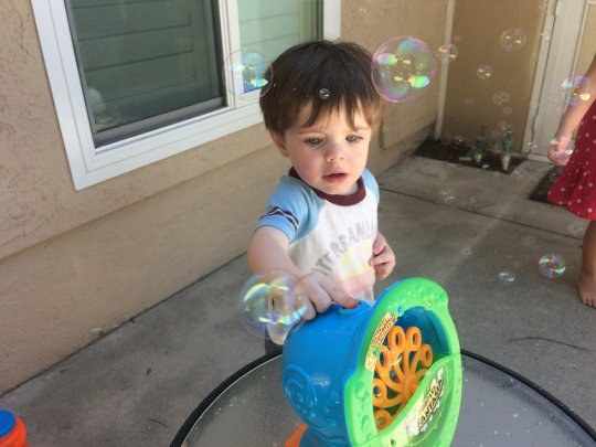 workin' the bubble machine