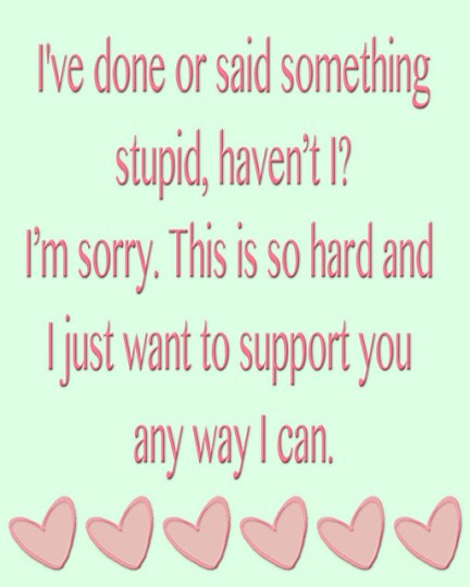 I support you