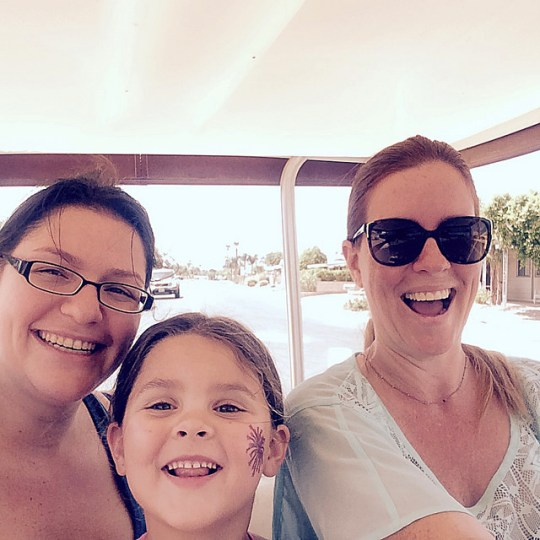 in the golf cart