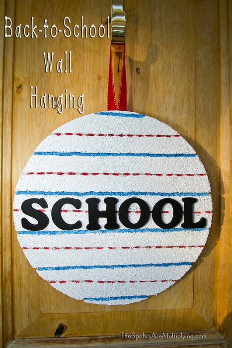 back to school hanging