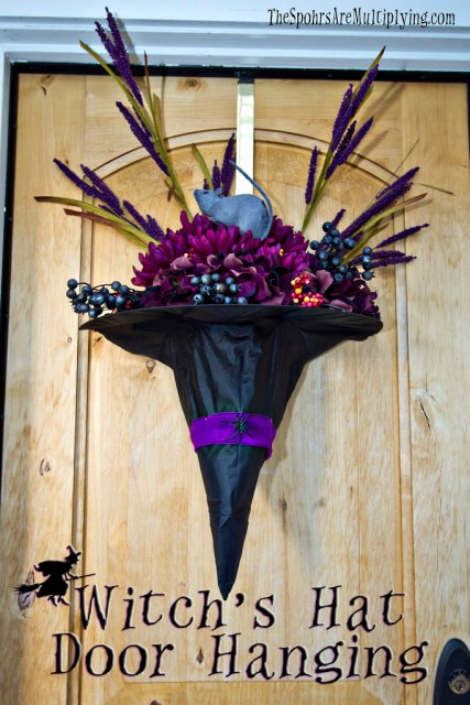witch hat door hanging
