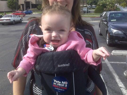 Maddie rocking the vote