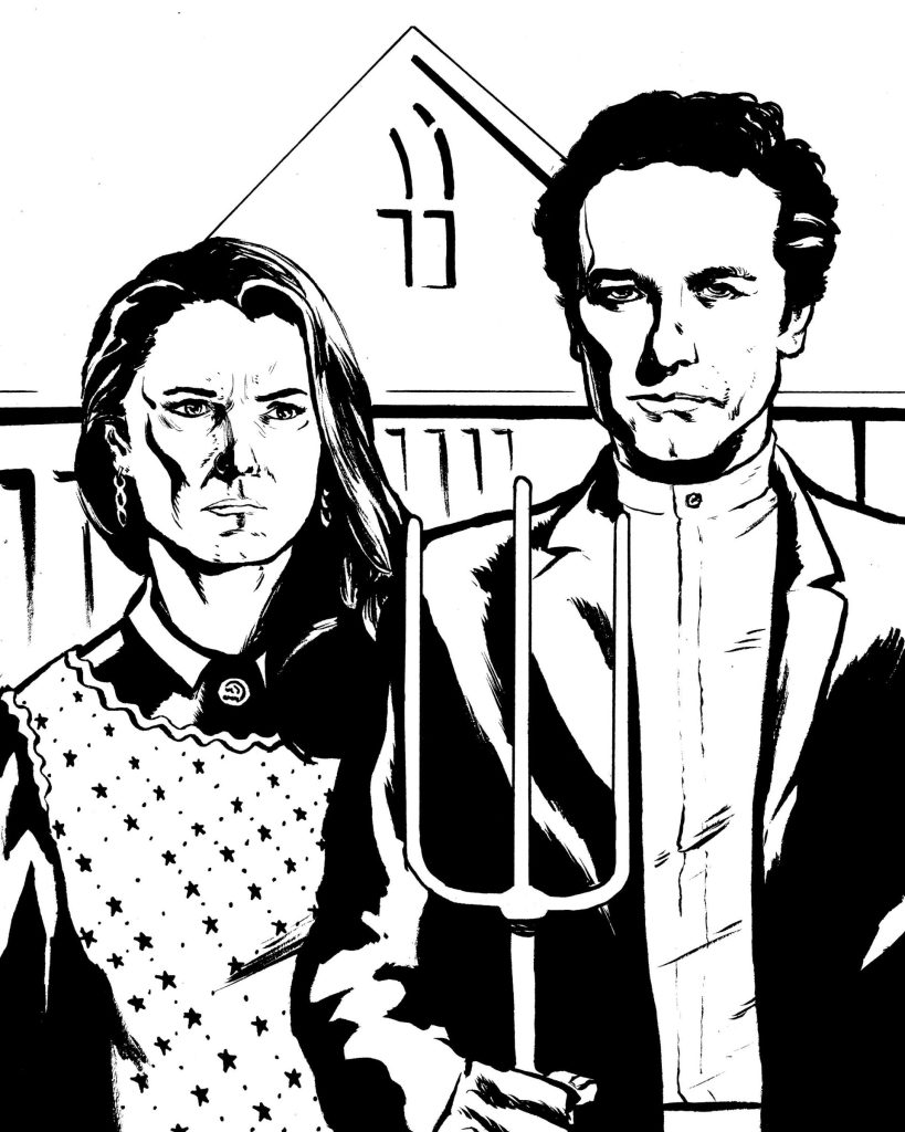 Hall of Faces - Elizabeth and Phillip Jennings (Keri Russell and Matthew Rhys, The Americans)