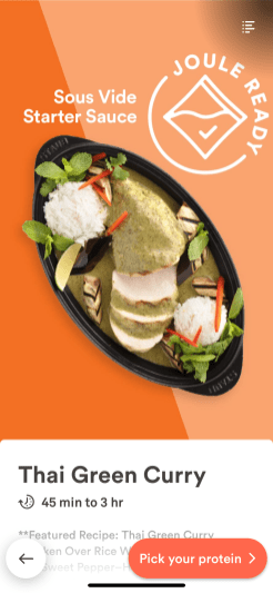 The Thai Green Curry featured recipe.