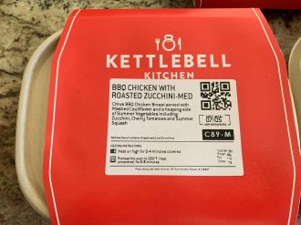Kettlebell meals come in compostable containers.