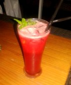 The Red Heat mocktail certainly lives up to its name with a generous sprinkling of black peppper