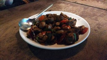 Mushroom Black Pepper Stir Fry: These juicy mushrooms certainly had a pleasant zing to them