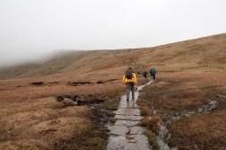 The slabbed walk upto Whernside