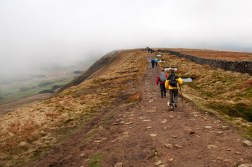 Along the mountain ridge