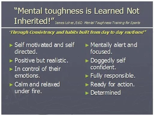 Graphic - Mental Toughness is Learned Not Inherited.