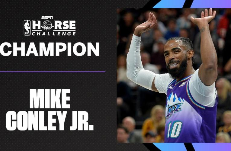 Utah Jazz guard Mike Conley wins inaugural NBA HORSE Challenge