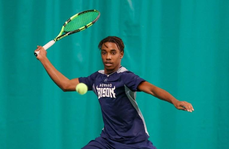 Howard Tennis Suffers Loss in Season Opener