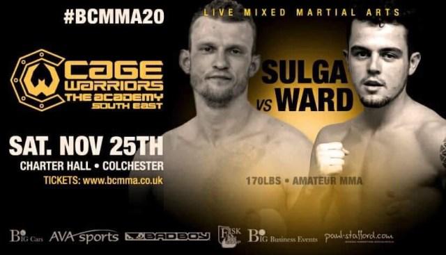Darius Sulga vs. Adam Ward BCMMA 20 Poster