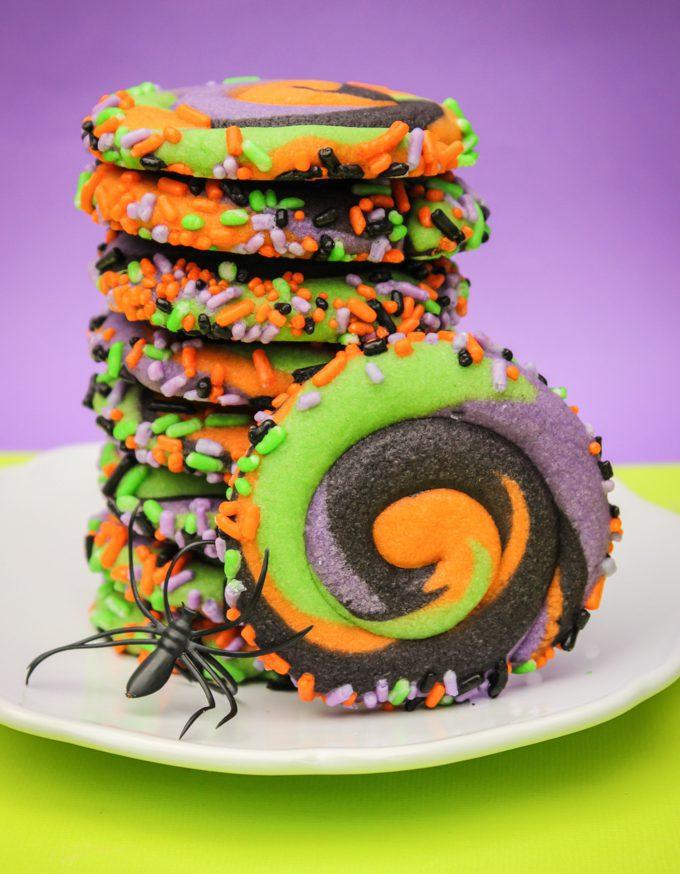 Pinwheel Halloween Sugar Cookies Simply Swirly Cookies