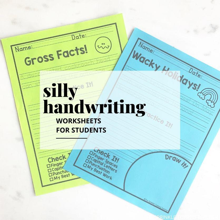 Fun Handwriting Worksheets For Older Kids