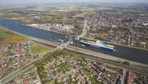 Picture of the port of ghent, where you might find an international job