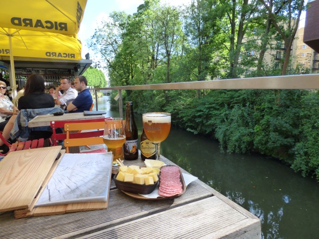Top deck drinking at De Planck