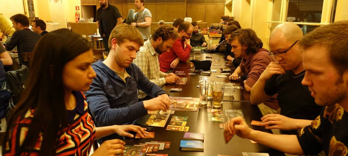 This is a picture about board games in Ghent
