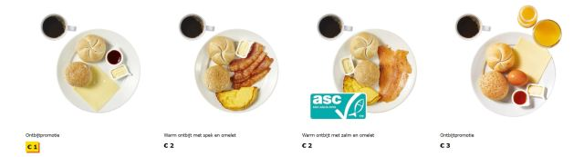 Image of breakfast options at IKEA