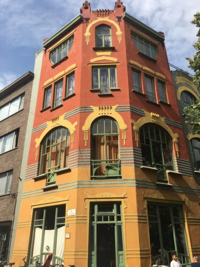 One of the most impressive art nouveau buildings in Ghent