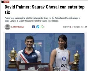 Press Alerts : David Palmer joins Indian Coaching Team…