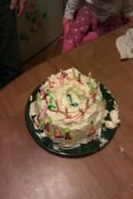 The kids made the birthday cake