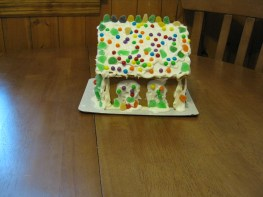Our first and last gingerbread house