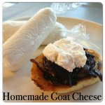 Crostini with Balsamic Onions and Homemade Goat Cheese