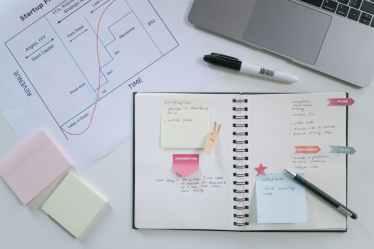 people desk laptop notebook