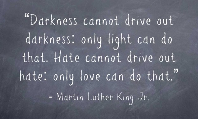 Image result for hate cannot drive out hate, only love can do that