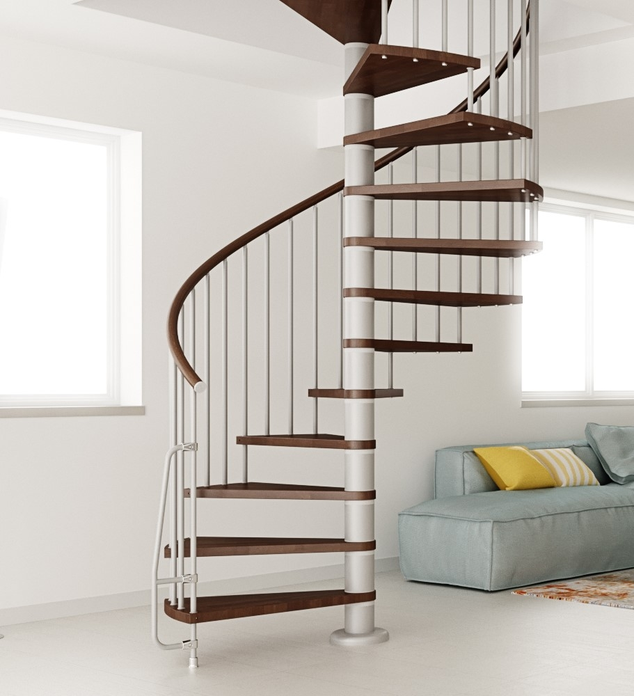 Nova Spiral Staircase Kit The Staircase People Spiral Modular   Space Saving Spiral Staircase   Child Friendly   Do It Yourself Diy   Metal   Duplex House   Loft