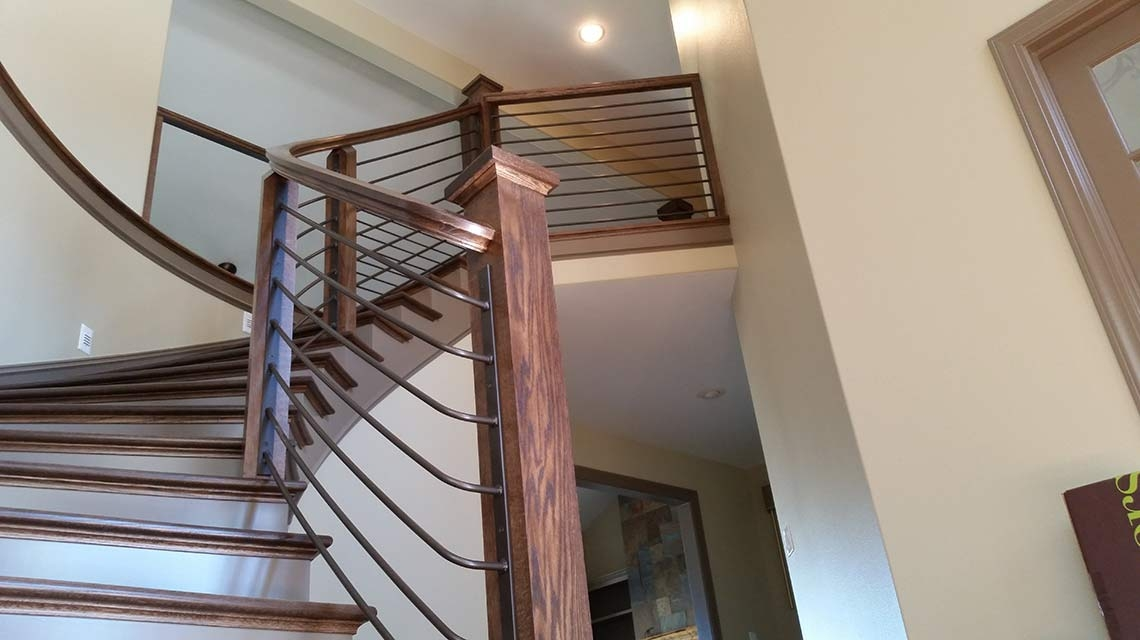 Custom Glass Metal And Wood Staircases The Stair Guyz   Steel And Wood Staircase   Steel Cable   Construction   Beautiful   New Model   Detail