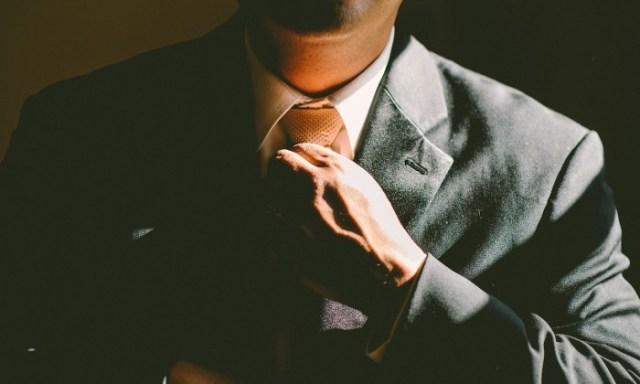 confident man in suit