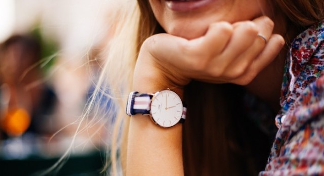 woman wrist with watch
