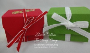 Angled Tag Topper Punch Treat boxes