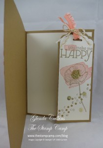 Happy Watercolor Scallop Tag Topper Bookmark